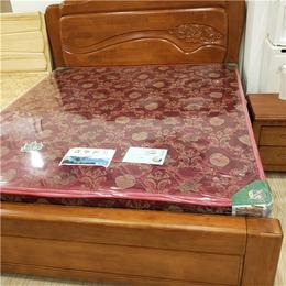 南昌青华家具  环保实木床  双人床定制 深色卧室家具