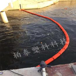 江苏苏州河道拦截生活垃圾水浮莲专用拦污塑料排拦污漂