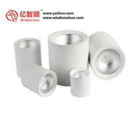 LED明装筒灯商用家用吸顶吊线免开孔节能COB黑白全服装店