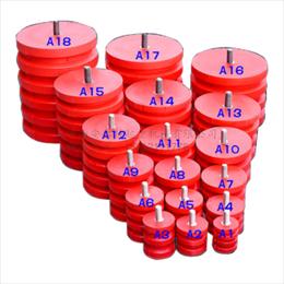 JHQ-A-9聚氨酯缓冲器液压缓冲器红色碰头
