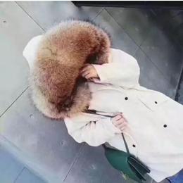 韩版大衣外套  狐狸貉子毛皮草大毛领派克服 女装货源折扣批发