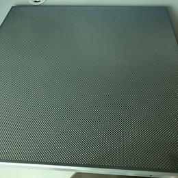 定制学校体育馆吊顶 600X600灰色冲孔铝扣板