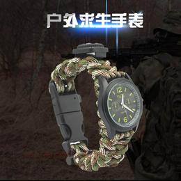 战狼2吴京同款伞绳编织多功能野外生存求生手环手绳户外运动手表
