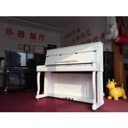 英格尔870白色钢琴烤漆立式电钢琴88键