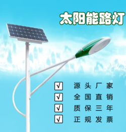 太阳能灯 新农村亮化工程 加光板6米  河北利祥供应全国