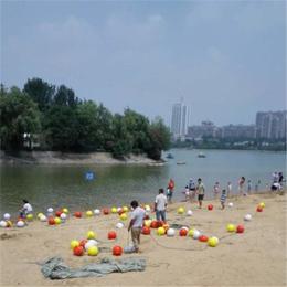 沙滩海域警示拦截隔离水深区危险区专用塑料浮球