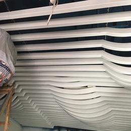 定制商场吊顶铝方通 弧形铝格栅 白色弧形铝方通