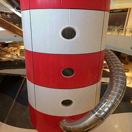 供应商场中庭包柱铝单板 红色弧形铝单板 冲孔铝单板