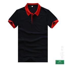 花都区现货T恤衫批发狮岭T恤衫定做翻领短袖T恤衫制作厂家缩略图
