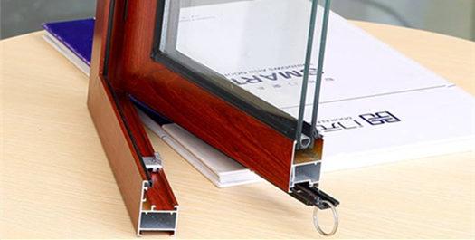 铝材质平开门窗用材 材料厚实耐用