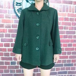 冬款西装领中年宽松短款外套毛呢大衣