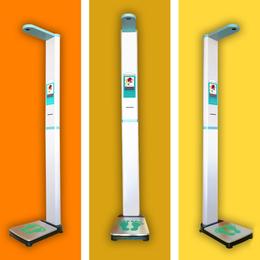 上禾科技电子秤+超声波身高体重测量仪+语音播报+自动打印