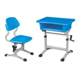 塑料手摇式升降课桌椅