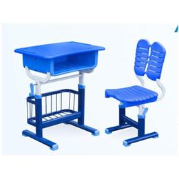 学生塑料手摇式升降课桌椅