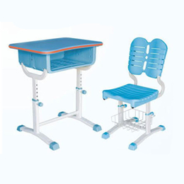 HL-A1909塑料旋转式升降课桌椅