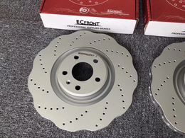 奥迪A6L原厂刹车改装打孔划线ECFRONT刹车盘