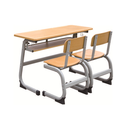 HL-A1965外贸版双人连体课桌椅