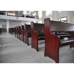 教堂椅子教堂长椅厂家教会椅子跪拜椅订做