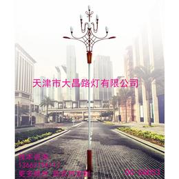 天津大昌路灯直供防水LED玉兰灯8米广场大型景观灯缩略图