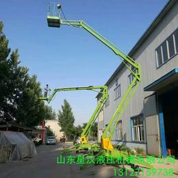 延安市外墻裝修升降作業平臺 星漢18米折臂升降機 自行升降車