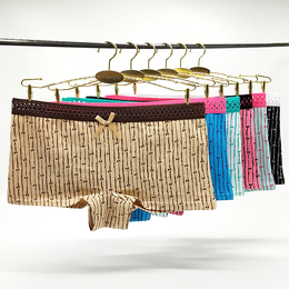 南美外贸女士内裤现货棉时尚条纹印花平角裤 厂家直销女短裤批发