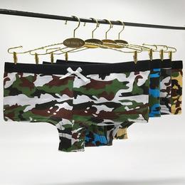厂家直销外贸平角内裤南美智利全棉女士内裤性感迷彩女式平角裤