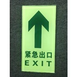地埋疏散指示标识牌发光玻璃地贴安全出口发光地面疏散指示地贴