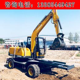 农用轮式挖掘机价格  山鼎轮式挖掘机厂家