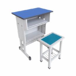 塑料培训课桌 学生课桌椅 双柱双层桌 厂家批发