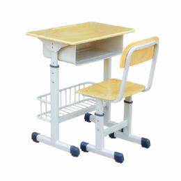 可升降兜课桌椅厂家直销  辅导补习单人桌椅