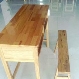 江西厂家实木双人课桌椅学生实木课桌椅批发