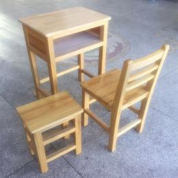 厂家供应环保实木单人课桌椅