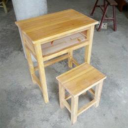 廠家直銷中小學校家用單人實木課桌椅
