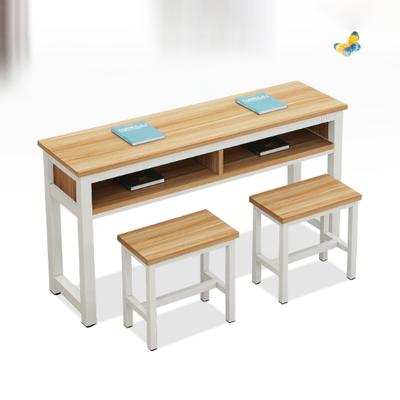 中小学生双人四脚固定课桌椅