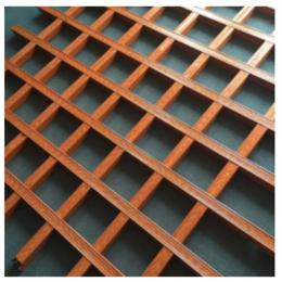 吊顶格栅仿木纹铁格栅集成吊顶方格塑料木纹铝格珊