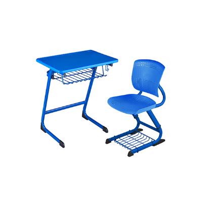 单人C型单层固定课桌椅