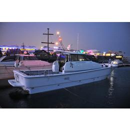 12米玻璃钢钓鱼艇MF42灵山兄弟游钓艇海钓艇商务钓鱼艇价格