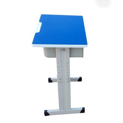 中小学单人单柱套管升降多层板课桌