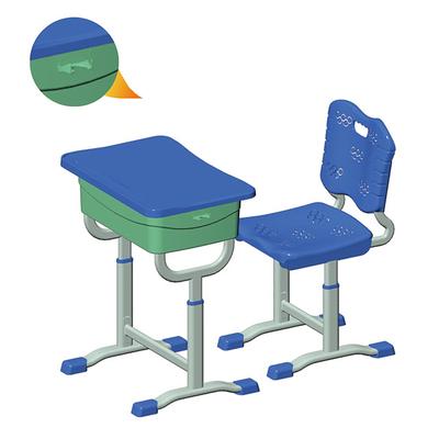 单柱单层套管升降塑料课桌椅