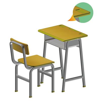 广式弯管多层板课桌椅