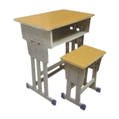 中小学单人三柱升降课桌凳