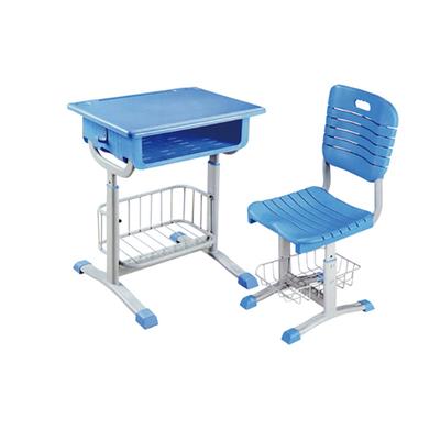 中小学单柱套管升降塑料课桌椅
