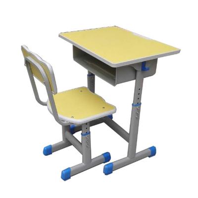 中小学单人单柱单层套管升降课桌椅