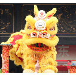中山石岐开业庆典策划 舞醒狮队 舞台音响 花篮拱门
