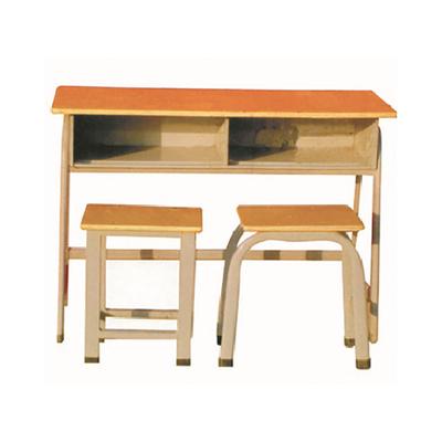 中小学双人广式弯管单层固定课桌凳