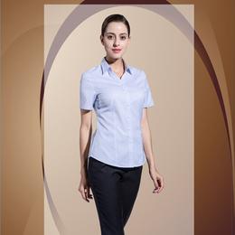 商务西服V领 蓝色条纹竖衬衫
