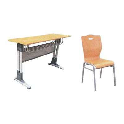 中小学双人双柱单层固定课桌椅