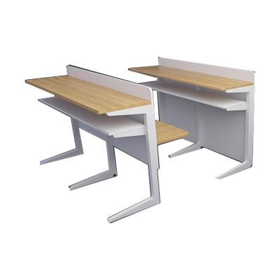 大学生双人C型单层固定课桌椅