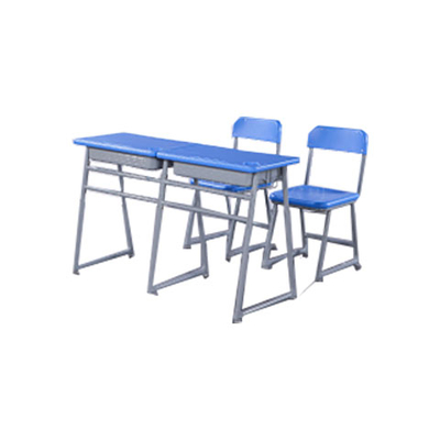 中小学双人三角型单层固定课桌椅