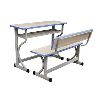 中小学双人K型单层固定课桌椅